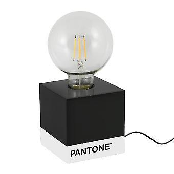 PANTONE Bordslampa Kub Färg Svart, Vit, Trä L9.5xP9.5xA9.5 cm