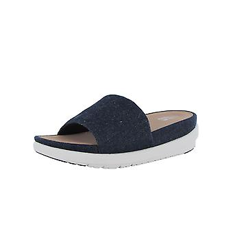 Fitflop Donna Loosh Luxe Slide Denim Sandal Shoes