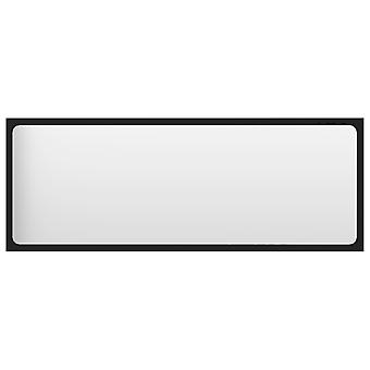 vidaXL badkamerspiegel zwart 100x1,5x37 cm spaanplaat