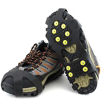 1 pari 10 nastaa liukumisenestojää tarttuja piikki talvikiipeily kahvat kengät kramppi