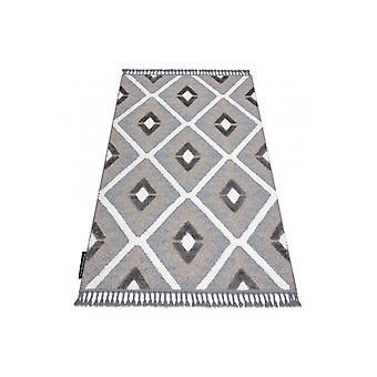 البساط MAROC P651 الماس الرمادي / الأبيض هامش البربر أشعث