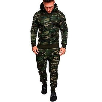 Hooded Jacket Pants Sports Jogging Suit