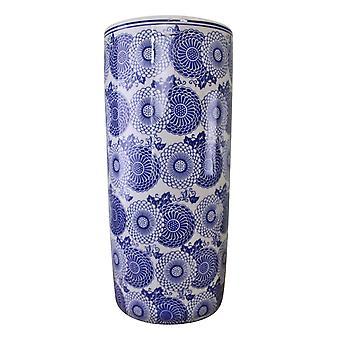 מעמד מטריה, עיצוב ציפורני חתול כחול וינטאג' לבן