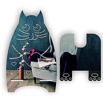 Schattige dierlijke harten kat acryl grote mobiele telefoon mobiele standaard