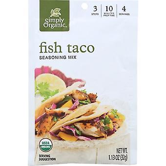 Simplesmente Mix Orgânico Taco Fish Org, Case de 12 X 1.3 Oz