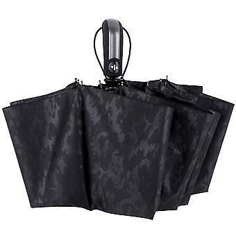 Black  oversized printed vinyl uv protection ten bone reinforcement windproof umbrella folding parasols homi4365