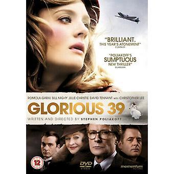 Glorious 39 DVD (2010) Romola Garai Poliakoff (DIR) Zertifikat 12 Region 2