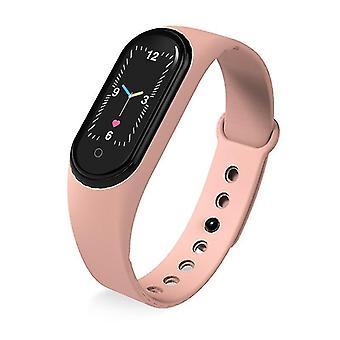 M5 Smart Fitness Tracker Sport Wristband(Pink)