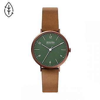 Naisten kello Skagen kellot SKW2973 - Silikoni hihna ruskea