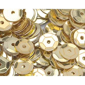 6mm Gold Round Cupped Sequins - 4000pk