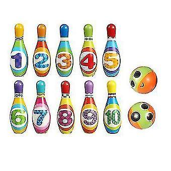 Kinder Indoor-Sport Bowling Spielzeug Pu Bowling Set Eltern-Kind Interaktives Spielzeug (L)