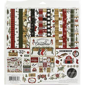"""كارتا بيلا مجموعة كيت 12 """"X12"""" -- مزرعة عيد الميلاد"""