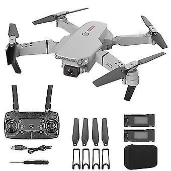 E88 4k hd drone de doble cámara con 2.4g estabilizador de cardán de 6 ejes rc quadcopter wifi fpv drone plegable