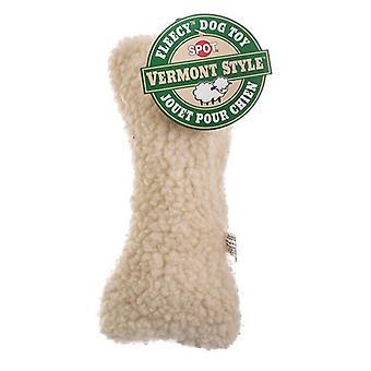 """Spot Vermont style fleecy luun muotoinen koira lelu - 9"""" pitkä"""