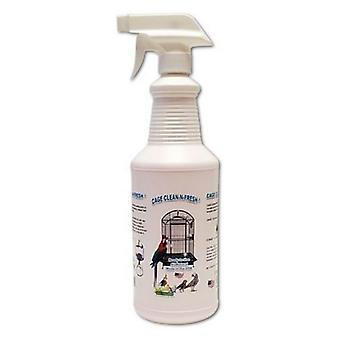 AE Cage Company Cage Clean n Fresh Cage Cleaner Fresh Pepermint Scent - Pulvérisateur de 32 oz