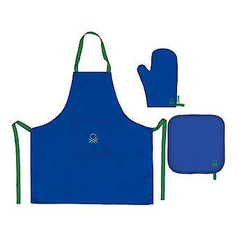 Schürze Benetton BE168 Blau (3 Stück)