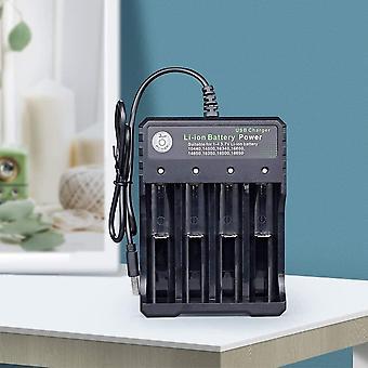 Akkumulátor töltő 18650 Lítium-ion újratölthető akkumulátor töltő 4 foglalat