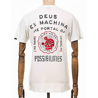 Deus Ex Machina Milano Address Tee - Vintage White