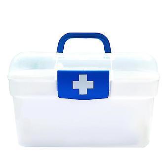 Pillboxes homemiyn portable family medicine storage box large capacity pillboxes 27x19x16.5Cm blue