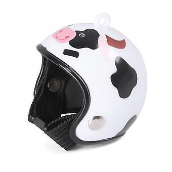Pet id tags 1pc chicken helmet pet equipment bird helmet helmet bird duck quail hat headgear pet chicken helmet