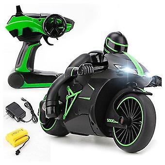 التحكم عن بعد الدراجات النارية 2.4G أزياء مصغرة التحكم عن بعد الانجراف ألعاب الأطفال السيارات لهدية عيد الميلاد RC دراجة نارية خضراء