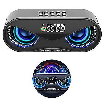 USB Wireless Bluetooth Lautsprecher Stereo Musik Player (Schwarz)