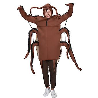 Snailify Funny Men's Cockroach Jumpsuit Cosplay Halloween Costume For Adult Insect Romper Carnival Party Fancy Dress