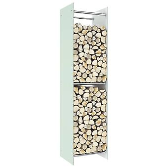 Chunhelife BrennholzRegal Weiß 40x35x160 Cm Glas