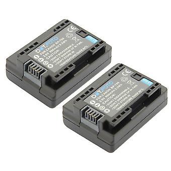2 x Dot.Foto BP-709 PREMIUM 3.6v / 895mAh reemplazo batería de videocámara recargable para Canon [Consulte descripción para la compatibilidad]
