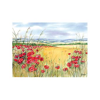 Tuftop Small Textured Worktop Saver, Poppies 30 x 22cm