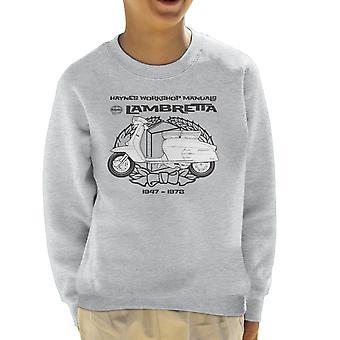 Haynes Owners Workshop Manual Lambretta 3 Kid's Sweatshirt
