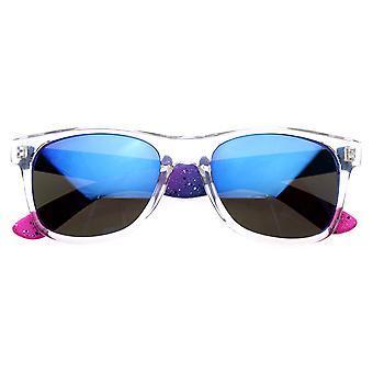 رش البلازما نيون اللون المزدوج رافير مرآة فلاش مرآة عدسة القرن النظارات الشمسية ريميد