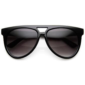 Large Oversized Horned Rim Flat Top Teardrop Aviator Sunglasses