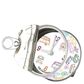 Official VW Camper Van Clock in gift tin can - Campervan Outline