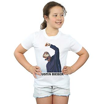 Justin Bieber Girls Shaded Pose T-Shirt