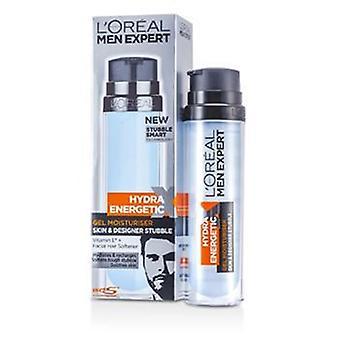 L'oreal Men Expert Hydra Energetic Skin & Designer Stubble Gel Moisturiser (pump) 78201733 - 50ml/1.7oz