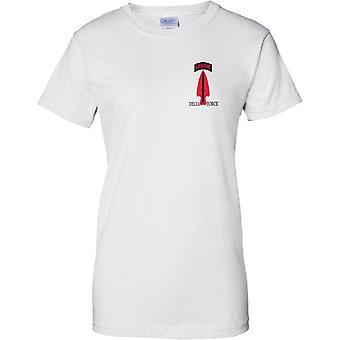 Delta Force - especial aerotransportado fuerzas 1st SFOD-D - unidad especial de la misión - señoras pecho diseño camiseta