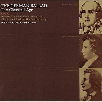 Bauer/Schaidnagl - The German Ballad: The Classical Age [CD] USA import