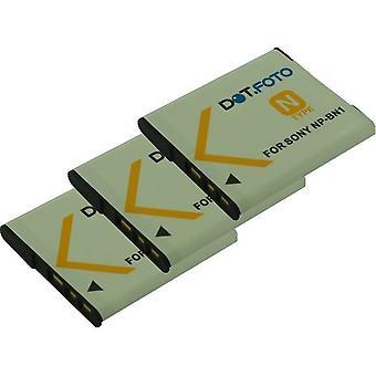 3 x Dot.Foto Sony NP-BN, NP-BN1 erstatningsbatteriet - 3,7 v / 630mAh