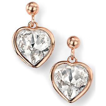 925 Silver Rose Gold Plated Swarovski Crystal Heart