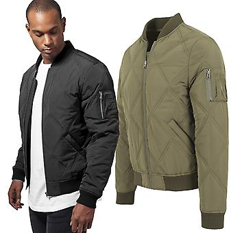 Urban classics - diamond quilt bomber pilot Aviator jacket