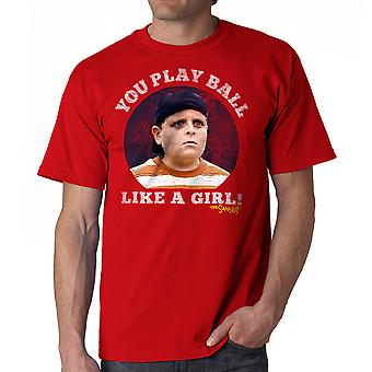 Sandlot Ball Like A Girl Men's Red T-shirt