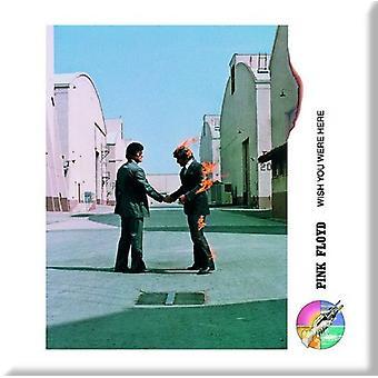 Pink Floyd frigo Magnet souhaite vous étiez ici Shake Hands nouveau officiel 76 mm x 76 mm