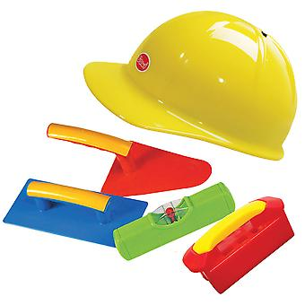 Gowi Toys Construction Big Bricklayer Set, Pretend Role Play Dress Up Builder