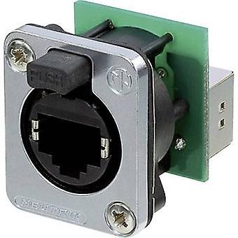EtherCon de conector RJ45 dados® D série soquete, reta número de pinos: 8P8C NE8FDP-SE preto Neutrik NE8FDP-SE 1 computador (es)