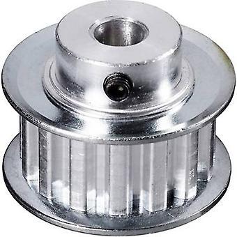 Aluminium Toothed belt disc Reely Bore diameter: 10 mm Diameter: 97 mm No. of teeth: 60