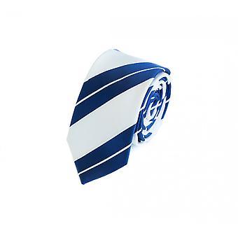 Binde binde slips slips 6cm hvid blå stribet Fabio Farini