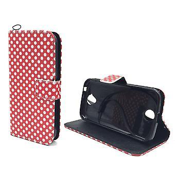 Handyhülle Tasche für Handy Xiaomi Redmi Note 2 Polka Dot Rot
