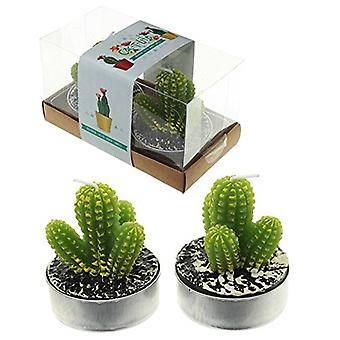 Puckator Spiky Cactus Tea Lights Set of 2