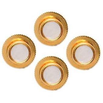 David Van Hagen Round Dress Studs  - White